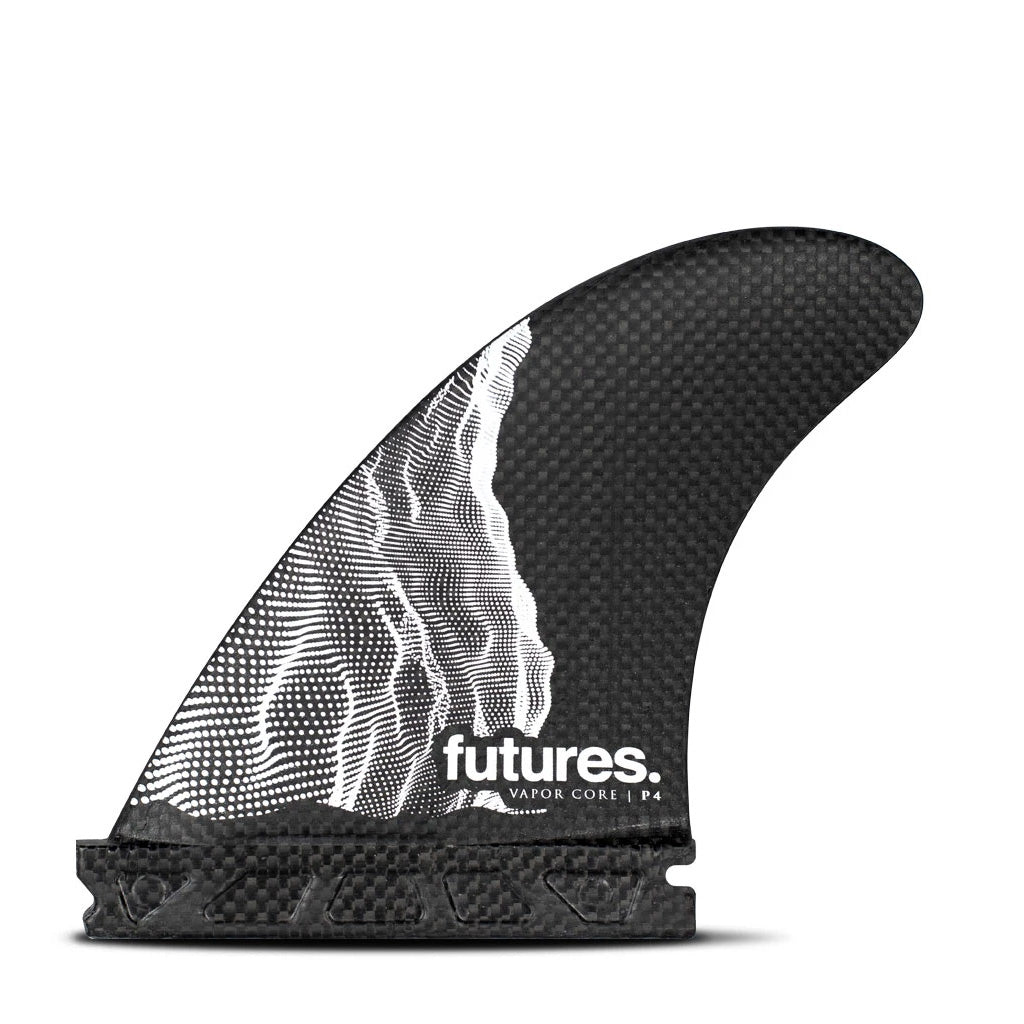 Futures Fins - Vapor Core P4 Tri Fin - Carbon/White - Seaside Surf Shop
