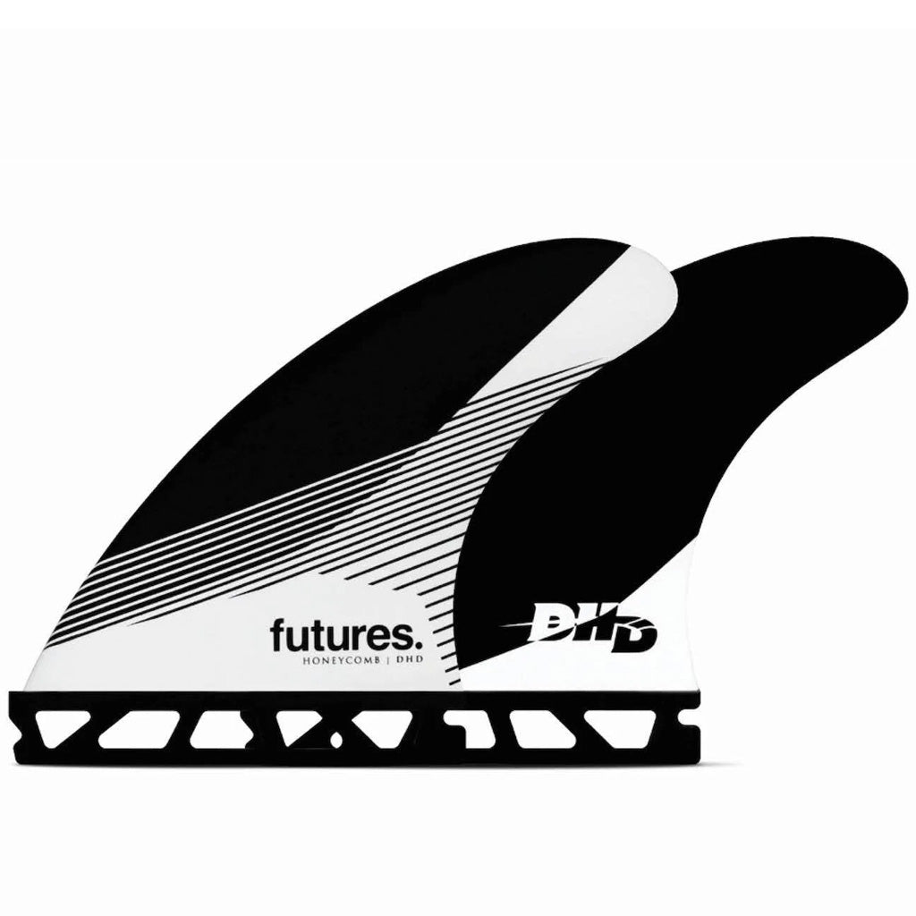 Futures Fins - DHD Medium HC Tri Fin - Black/White - Seaside Surf Shop