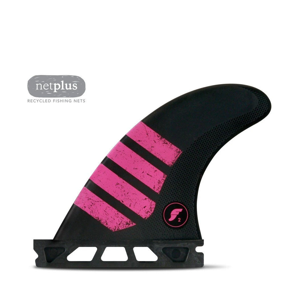 Futures Fins - F2 Alpha Series Tri Fin - Carbon/Pink - Seaside Surf Shop