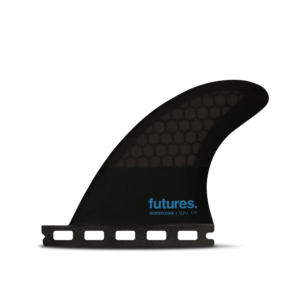 Futures Fins - QD2 3.75 HC Quad Rear Fin Pair - Smoke/Black/Blue - Seaside Surf Shop
