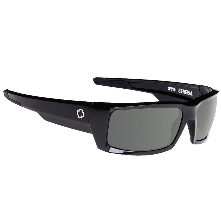 -Sunglasses-SPY General Black Happy Grey Green-SPY-Seaside Surf Shop