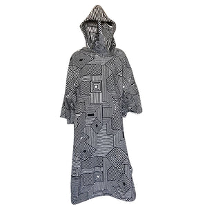 Blocksurf Changing Robe - Geometric Mono-Blocksurf-Seaside Surf Shop