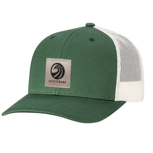 Seaside Surf Shop New Wave Logo Patch Cap - Dark Green/Birch