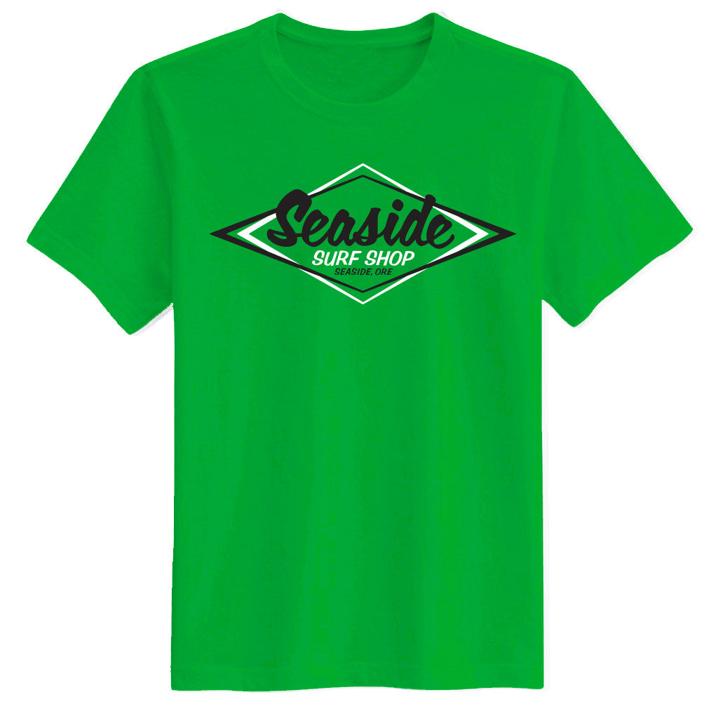 Seaside Surf Shop Mens Vintage Logo Tee - Shamrock