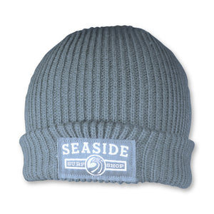 Seaside Surf Shop Longshoreman Logo  Beanie - Grey