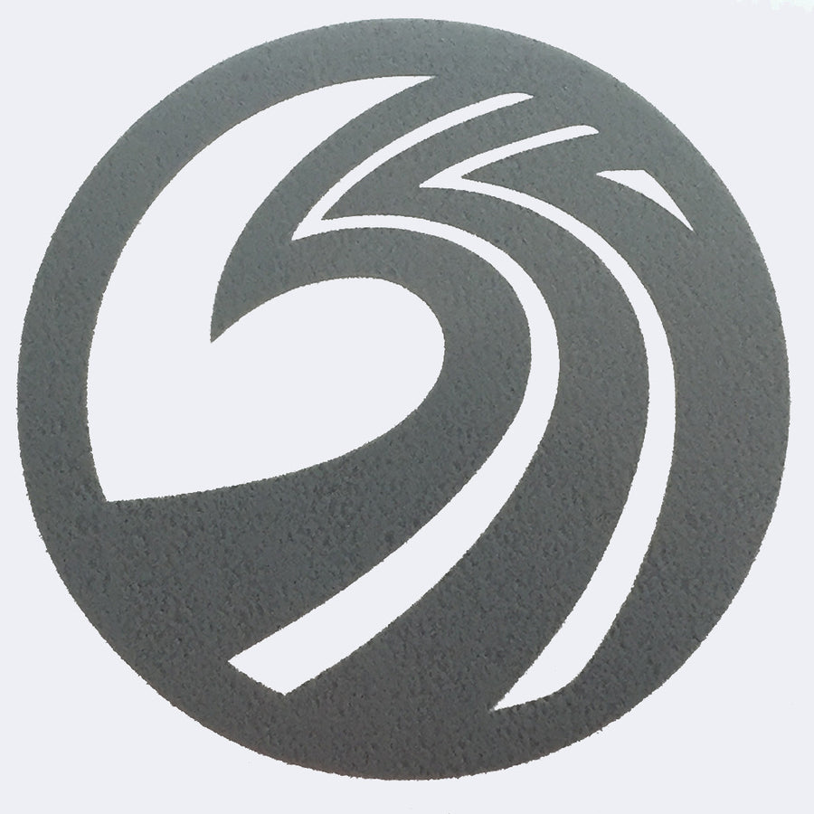 "Seaside Surf Shop - New Wave Logo Die Cut- 4.25"" Silver Grey-Seaside Surf Shop-Seaside Surf Shop"
