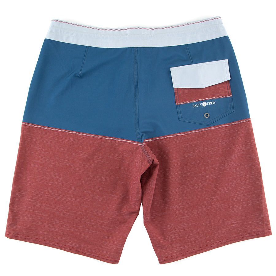 Salty Crew Mens Halyard Boardshort - Red, Swimwear, Salty Crew, Mens Boardshorts, 4-way stretch boardshort with tubular waistband and straight hem + 93% polyester / 7% spandex