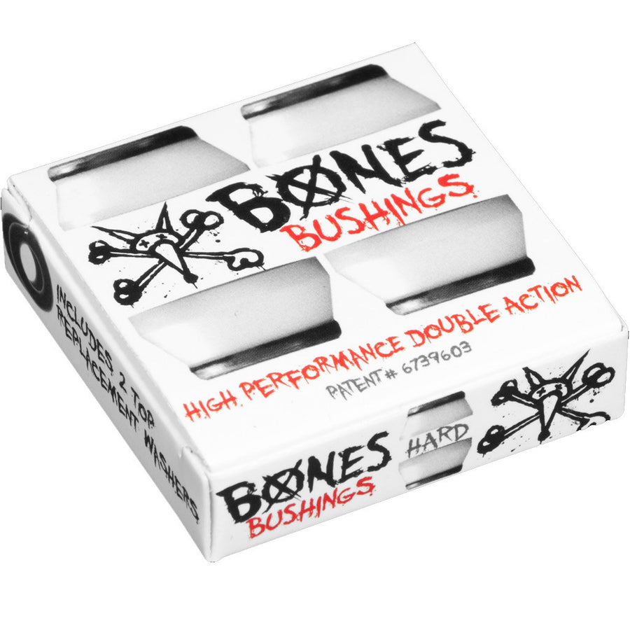 Bones Bushings - Hard White, Skate, Bones, Bones, Bones Hardcore Bushings - Hard Black set of two.