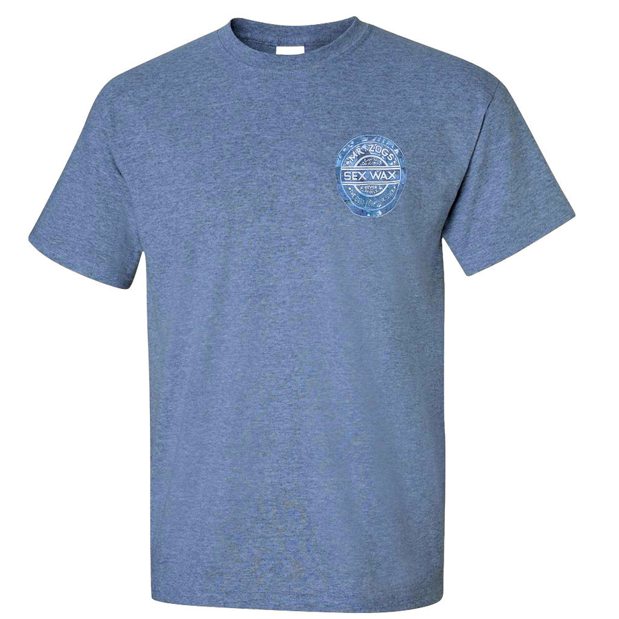 Sex Wax Hawaiian Dreams Tee - Indigo Blue-Zogs Sex Wax-Seaside Surf Shop