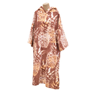 Blocksurf Microfleece Wetsuit Changing Robe - Hawaiian Pineapple