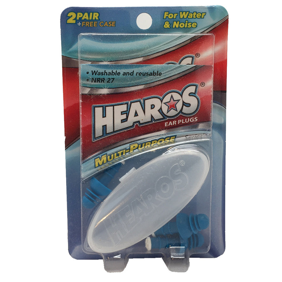 Hearos Ear Plugs, Surf Accessories, Blocksurf, Hearos, Hearos Ear Plugs - New Packaging! 2 pair of earplugs with case.