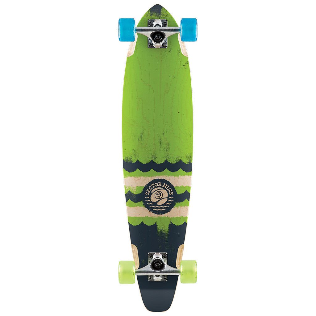 "-Skate-Sector 9 Highline Complete - 34.5"" Green/Blue-Sector 9-Seaside Surf Shop"