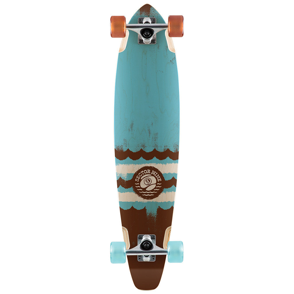 "-Skate-Sector 9 Highline Complete - 34.5"" Blue/Brown-Sector 9-Seaside Surf Shop"
