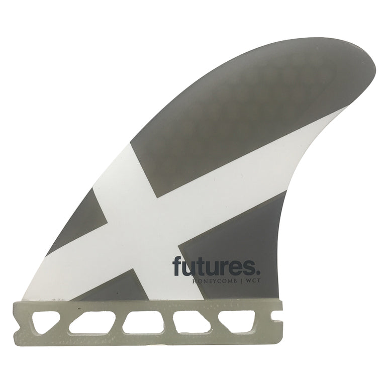 -Surf Accessories-Futures Fins -WCT Honeycomb Tri-Fin Set (M) - Grey/White-Futures Fins-Seaside Surf Shop