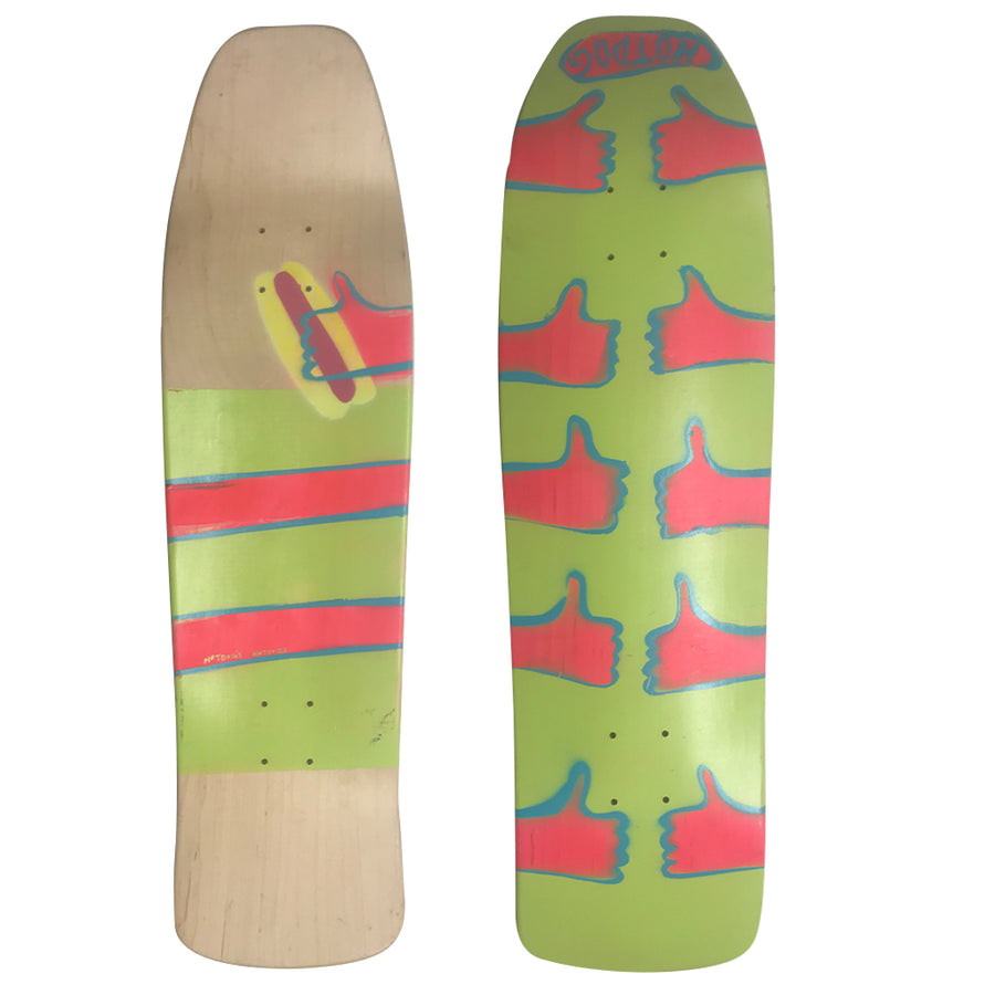 "Hot Dog Skateboards Thumbs Up - 33"", Skate, Hot Dog, 8.75, Hot Dog, Hot Dog Skateboards Thumbs Up. Locally Crafted in NW. 33""10 Deck."