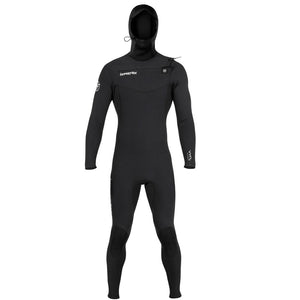 Hyperflex VYRL Mens 5/4mm Hooded Front Zip  Fullsuit - Black