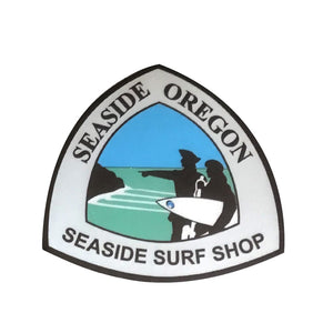 "Seaside Surf Shop - Lewis & Clark - 3"" x 3"""