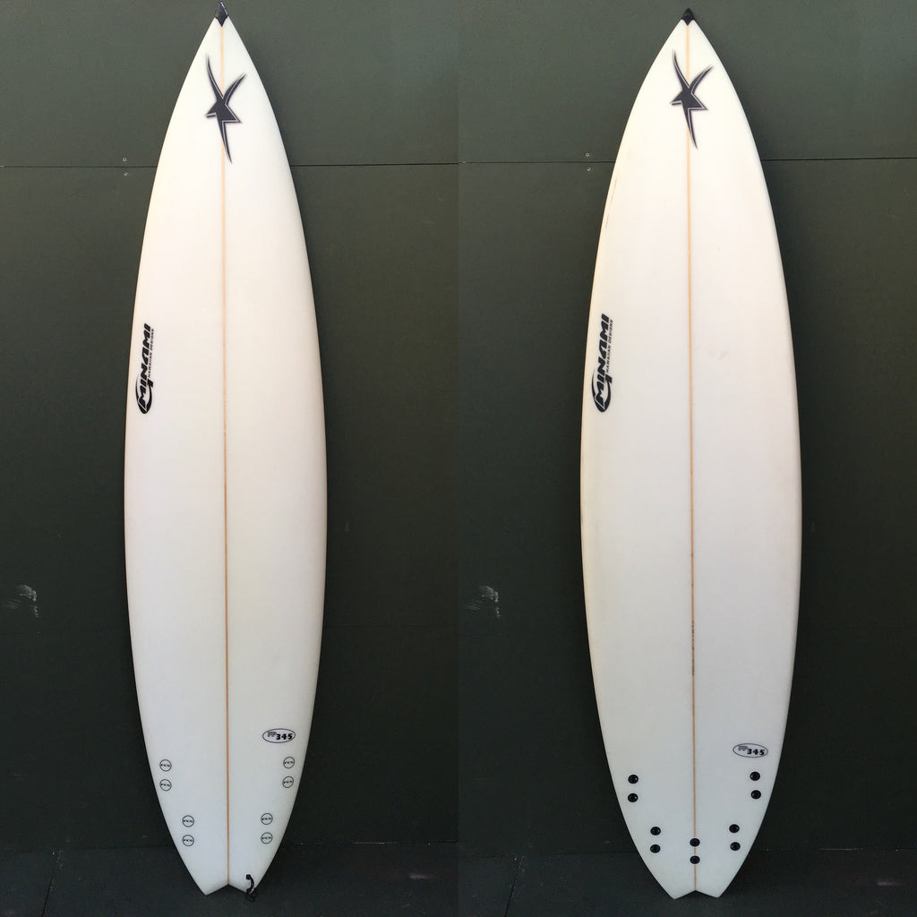 "USED Minami Hawaiian Design Surfboards - 7'4"" Swallow Tail Surfboard"