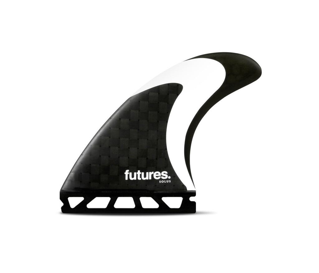 Futures Fins Solus HC Tri-Fin Set - Carbon/Black/White - Seaside Surf Shop