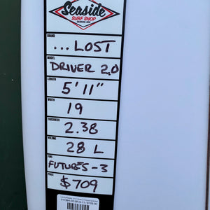 "Lost Surfboards - 5'11"" Driver 2.0 Round Surfboard"