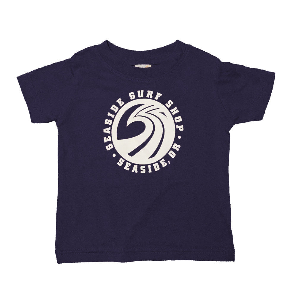 -Seaside Surf Apparel-Seaside Surf Shop Infant New Wave Tee - Navy-Seaside Surf Shop-Seaside Surf Shop