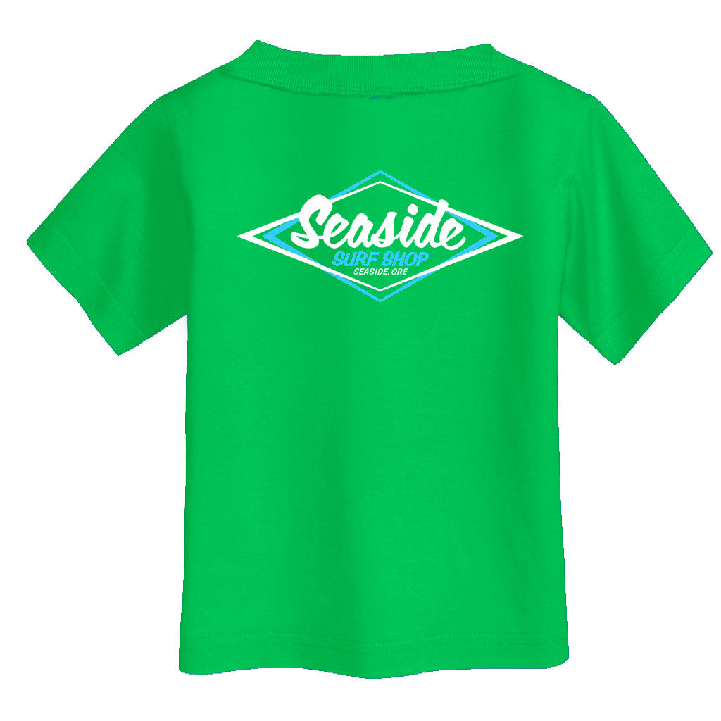 Seaside Surf Shop Youth Vintage Logo Tee - Kelly Green - Seaside Surf Shop