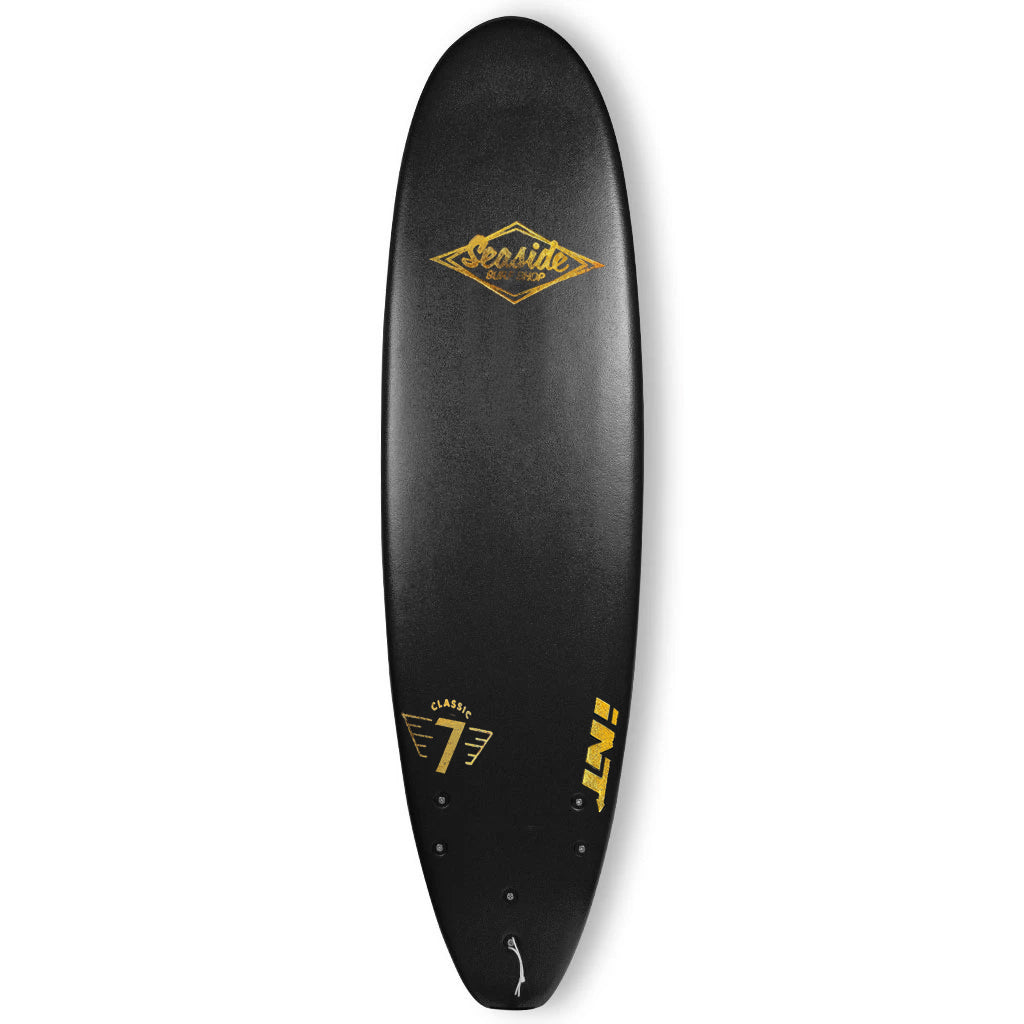 INT Softboards Surfboards - The Classic 7' - Black - Seaside Surf Shop