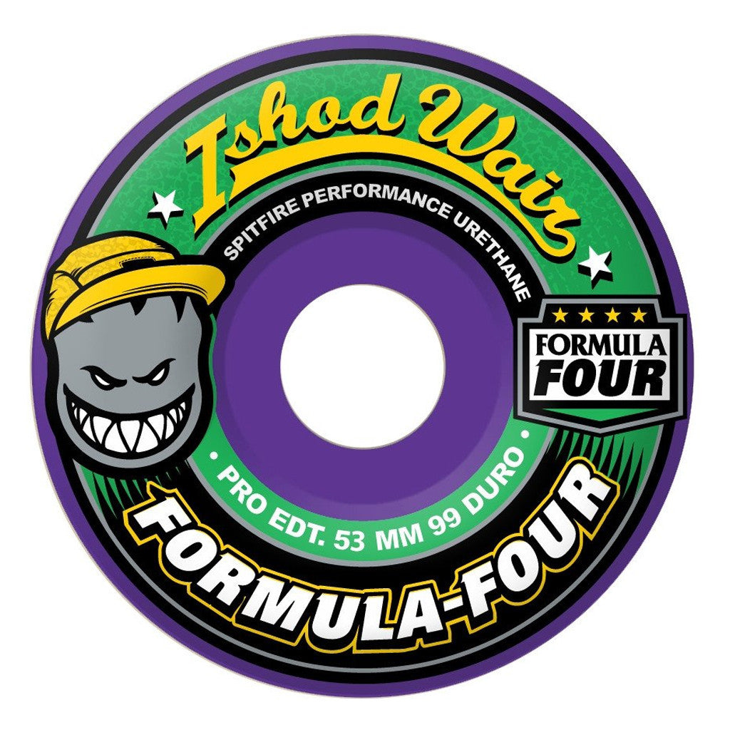 Spitfire 53mm Ishod Wair Pro Edition Formula Four Skateboard Wheels