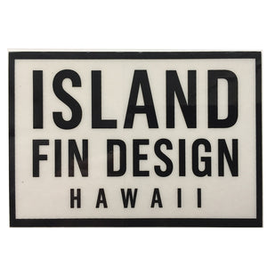 "Island Fin Design - 4x2.5"" - Black-Island Fin Design-Seaside Surf Shop"