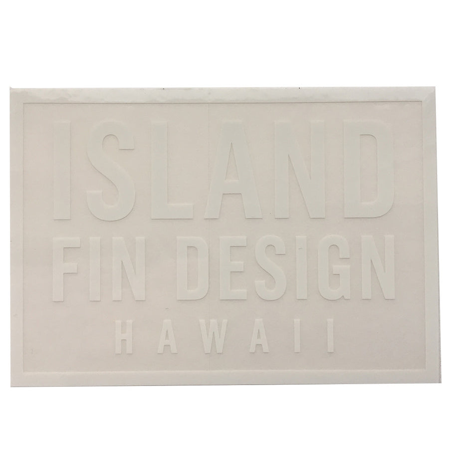 "Island Fin Design - 4x2.5"" - White, Stickers, Island Fin Design, Island Fin Design, Handscreened just like their hand shaped custom made fins...Island Fin Design Sticker measures 4x2.5"" 4x2"" White"