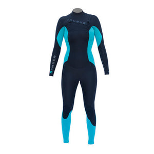 Isurus Ember Womens 343 Chest Zip Wetsuit-Isurus Wetsuits-Seaside Surf Shop
