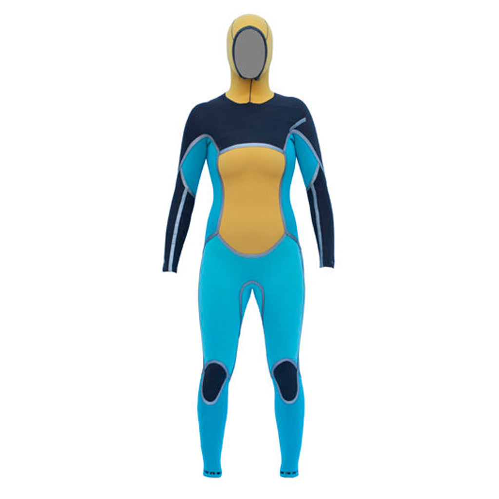 Isurus Ember Womens 454 Hooded Chest Zip Wetsuit