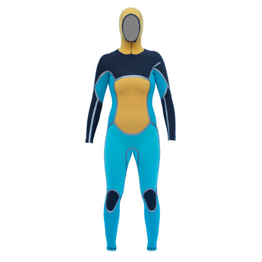 '-Wetsuits-Isurus Ember Womens 454 Hooded Chest Zip Wetsuit-Isurus-Seaside Surf Shop