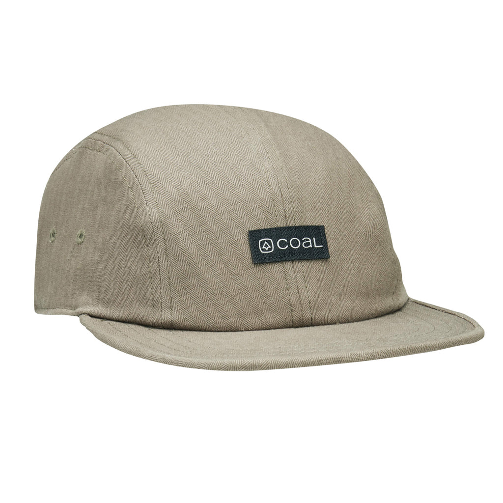 Coal Mens The Jerome 4 Panel Low Profile Cap - Khaki - Seaside Surf Shop