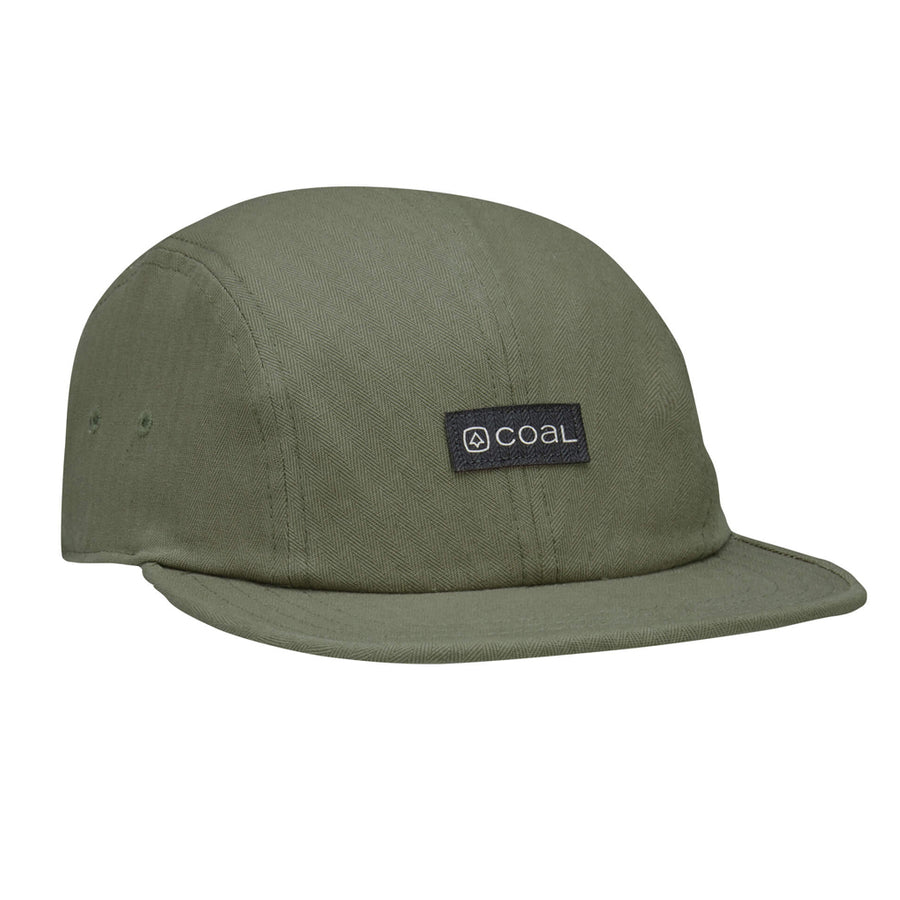 Coal Mens The Jerome 4 Panel Low Profile Cap - Olive