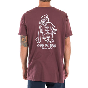 Katin Mens K-Man Tee - Deep Red-Katin USA-Seaside Surf Shop