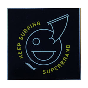 "-Stickers-Superbrand Keep Surfing Sticker - 2"" - Black-Superbrand Surfboards-Seaside Surf Shop"