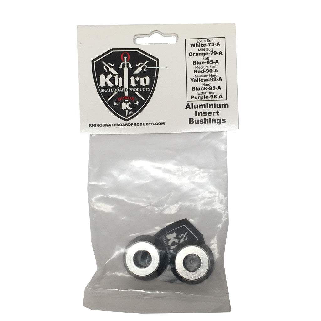 Khiro Aluminum Insert Bushings - Black 95A