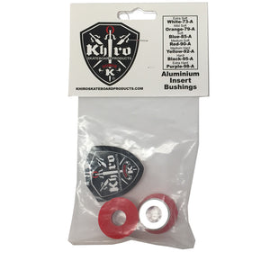 -Skate-Khiro Aluminum Insert Bushings - Red 90A-Khiro-Seaside Surf Shop