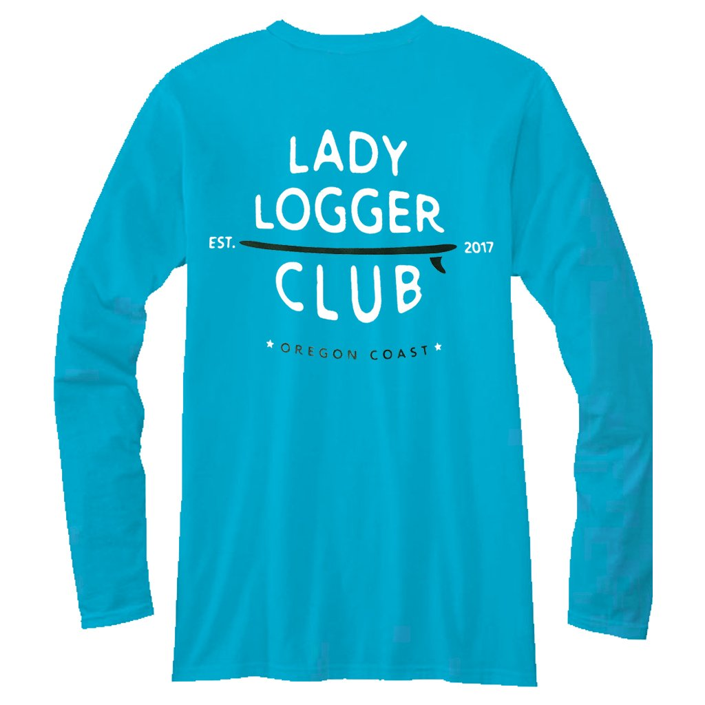 OSA Womens Lady Logger L/S  Tee - Blue Horizon - Seaside Surf Shop