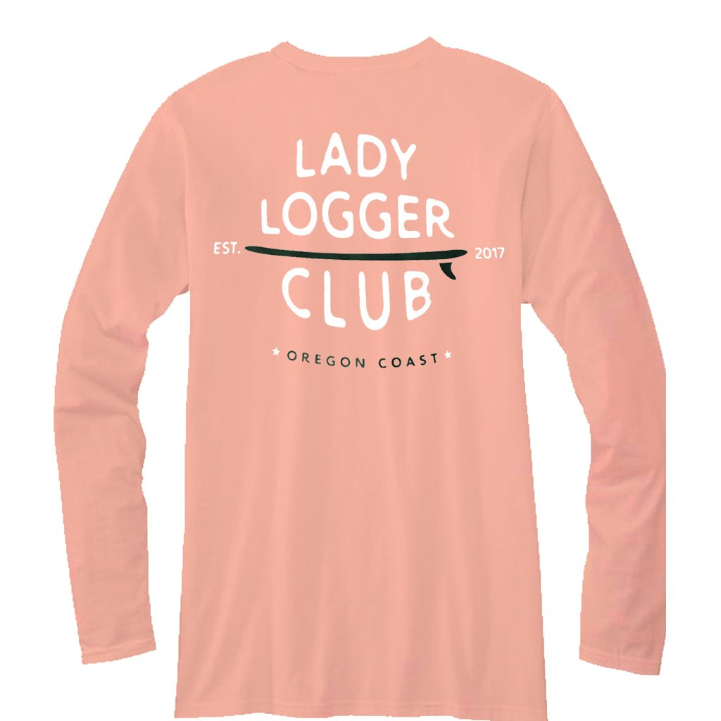OSA Womens Lady Logger L/S  Tee - Candy Orange - Seaside Surf Shop