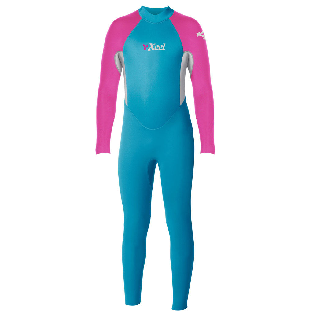 -Wetsuits-Xcel Toddler 3mm Fullsuit Wetsuit - Lake Blue/Ice Grey-Xcel Wetsuits-Seaside Surf Shop