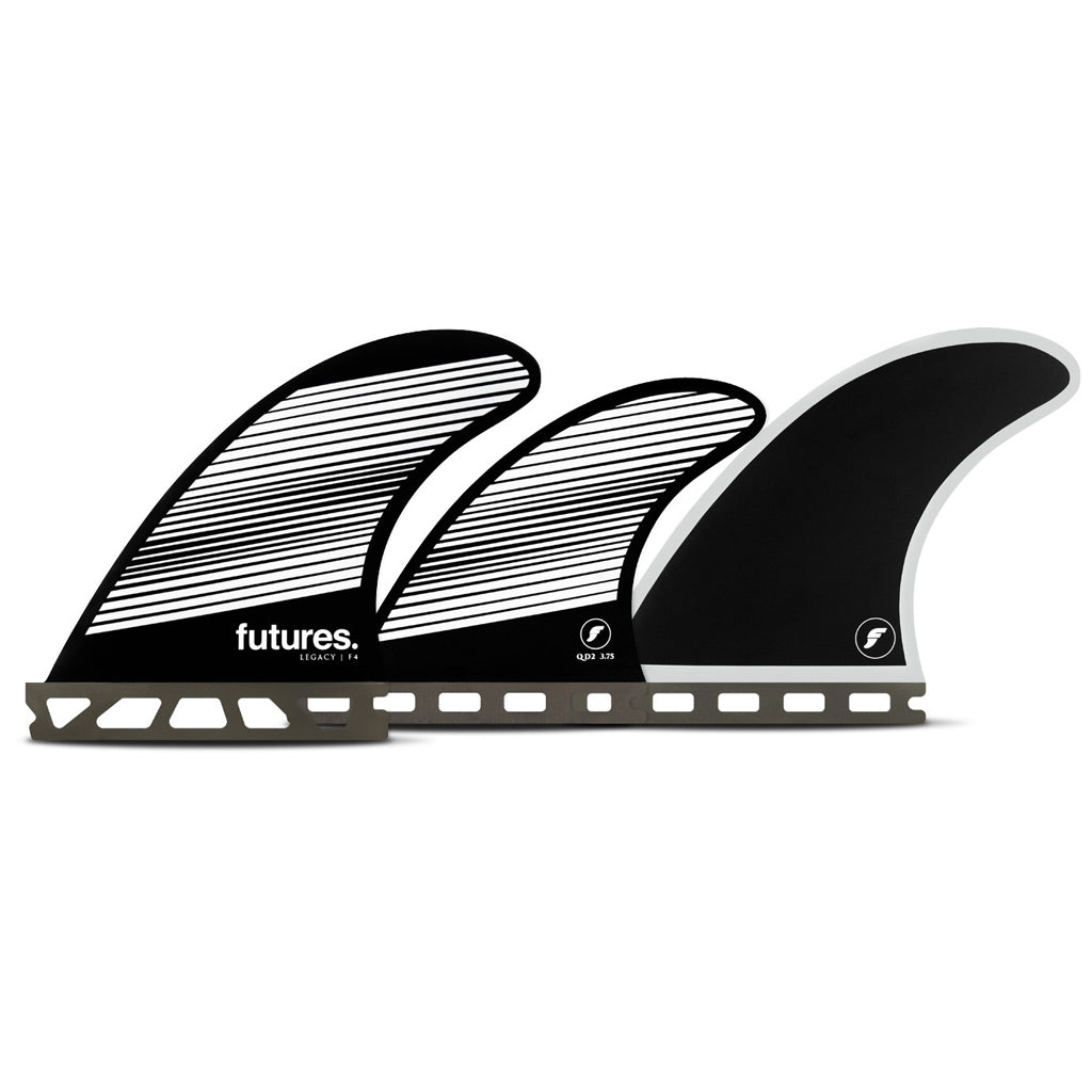 Futures Fins - F4 Legacy Five Fin Set - Gray/Black - Seaside Surf Shop