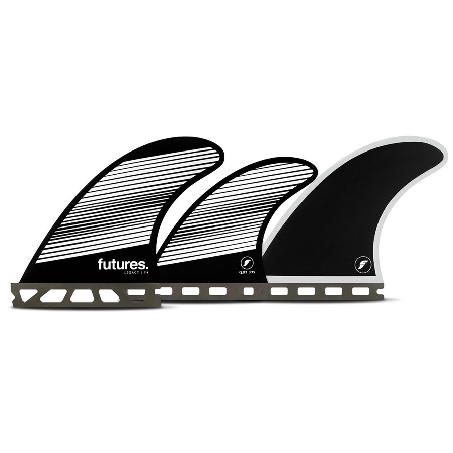 Futures Fins - F4 Legacy Five Fin Set - Gray/Black