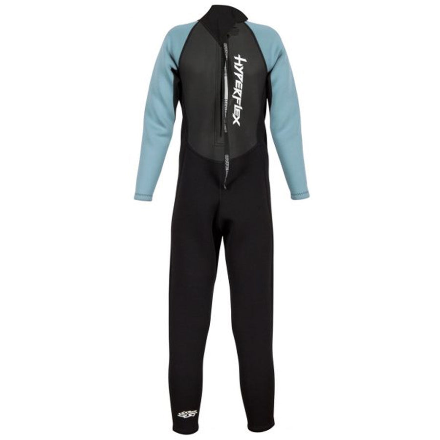 Hyperflex Access Child's 3/2mm Backzip Fullsuit - Black/Lite Blue