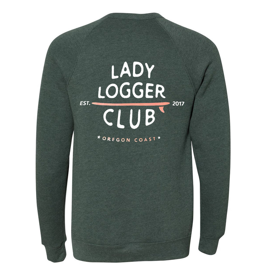 OSA Womens Lady Logger Crew Sweatshirt - Forest Green