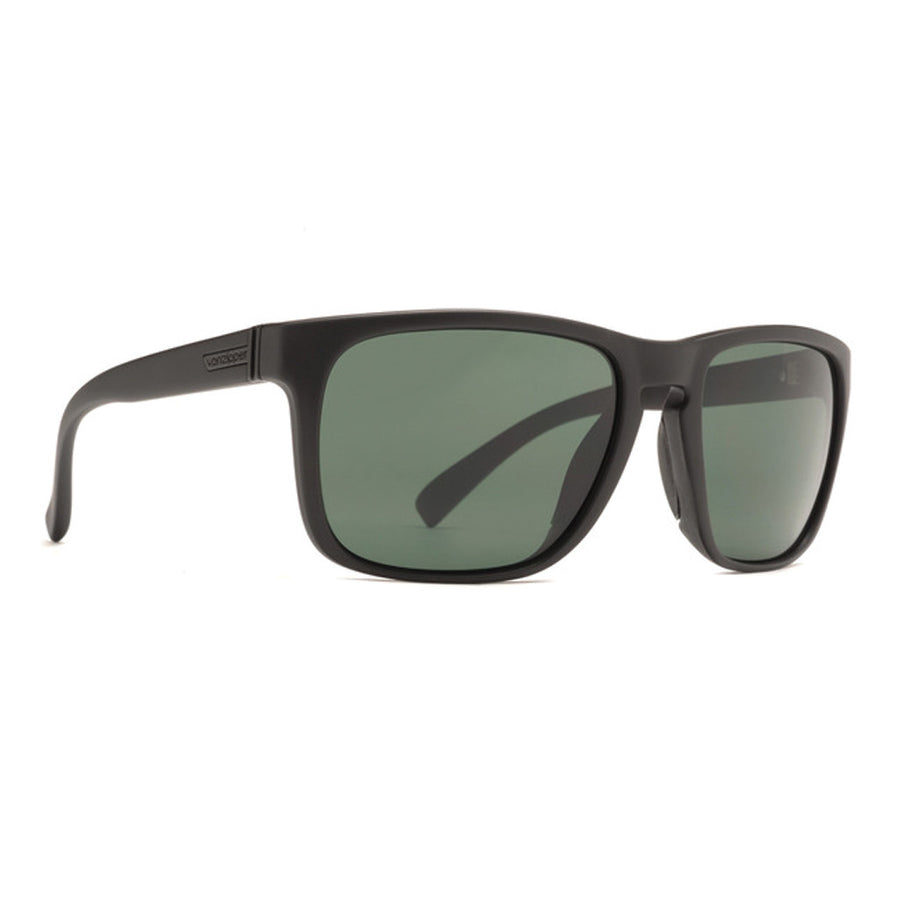 -Sunglasses-Von Zipper Lomax - Black Satin Vintage Grey Lens-Von Zipper-Seaside Surf Shop