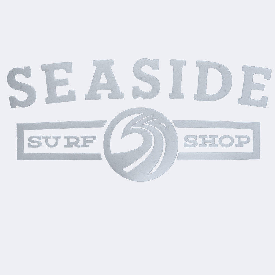 "-Seaside Surf Accessories-Seaside Surf Shop - Longshoreman Sticker - 7x3"" White-Seaside Surf Shop-Seaside Surf Shop"