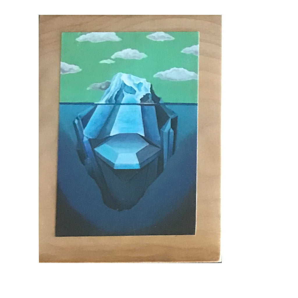 Jo Lundberg Wooden 4x6 Postcards - Iceberg Paddle - Seaside Surf Shop