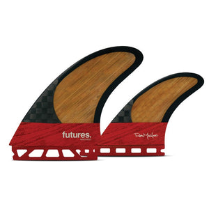 Futures Fins - Machado Twin +1 - Red-Futures Fins-Seaside Surf Shop